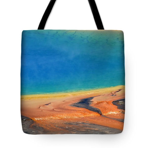Yellowstone Grand Prismatic Colors Tote Bag by Debra Thompson