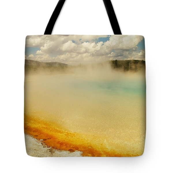 Yellowstone Hot Springs Tote Bag by Jeff Swan