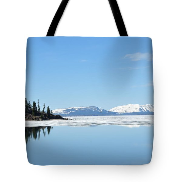 Yellowstone Lake In The Spring Tote Bag
