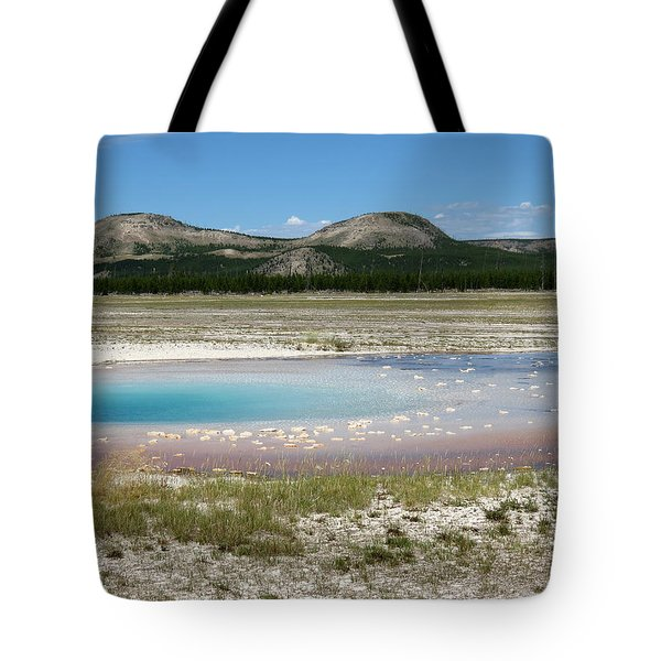 Tote Bag featuring the photograph Yellowstone Landscape by Laurel Powell