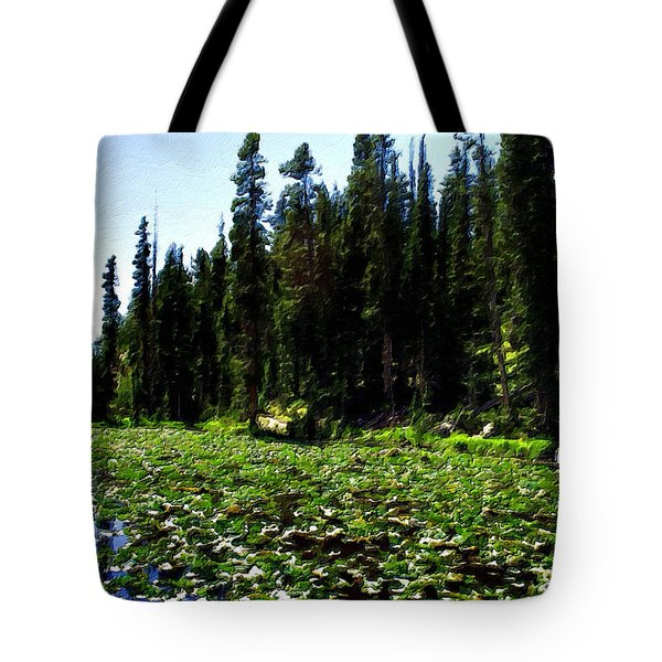 Yellowstone Lily Pads  Tote Bag