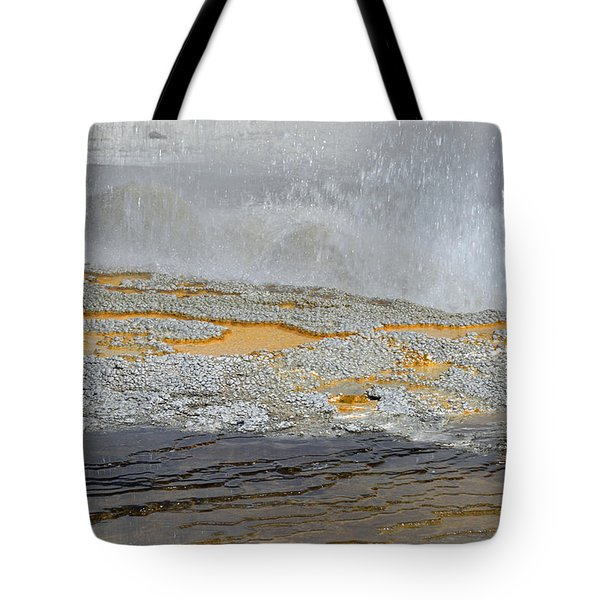 Yellowstone National Park's Jewel Geyser Tote Bag by Bruce Gourley