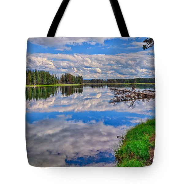 Yellowstone River Reflections Tote Bag