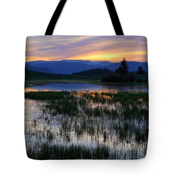 Yellowstone Sunrise Tote Bag