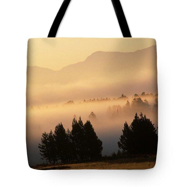 Yellowstone Sunrise Tote Bag by Steve Archbold