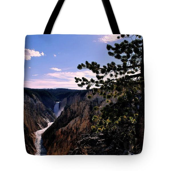 Tote Bag featuring the photograph Yellowstone Waterfall by Matt Harang