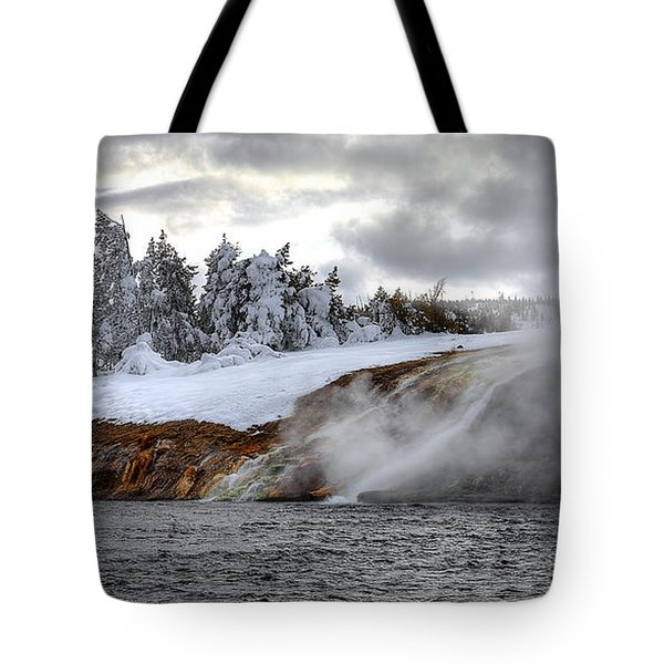 Yellowstone's Fire And Ice Tote Bag