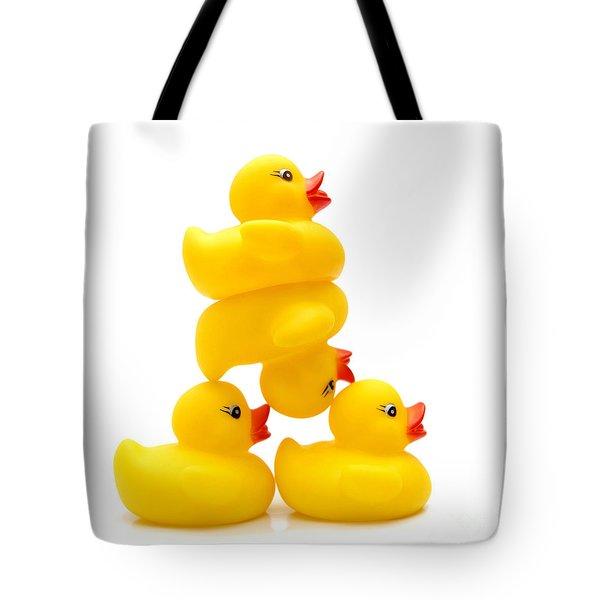 Yelow Ducks Tote Bag