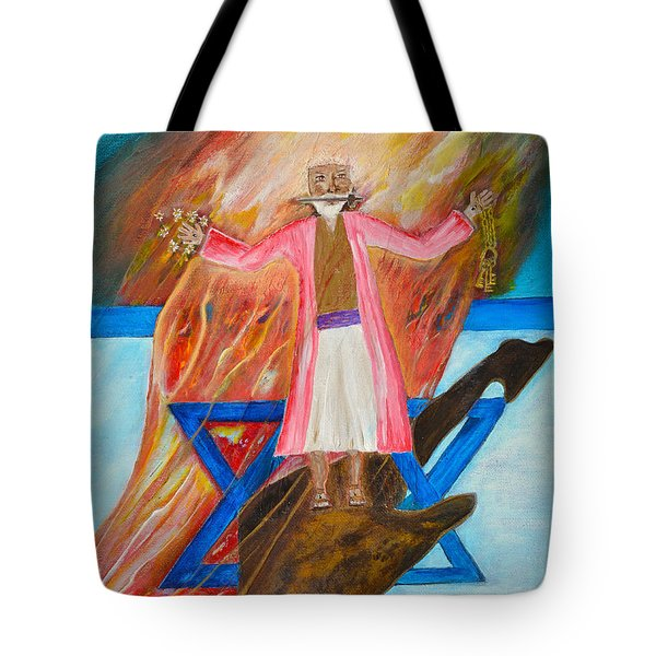 Tote Bag featuring the painting Yeshua by Cassie Sears