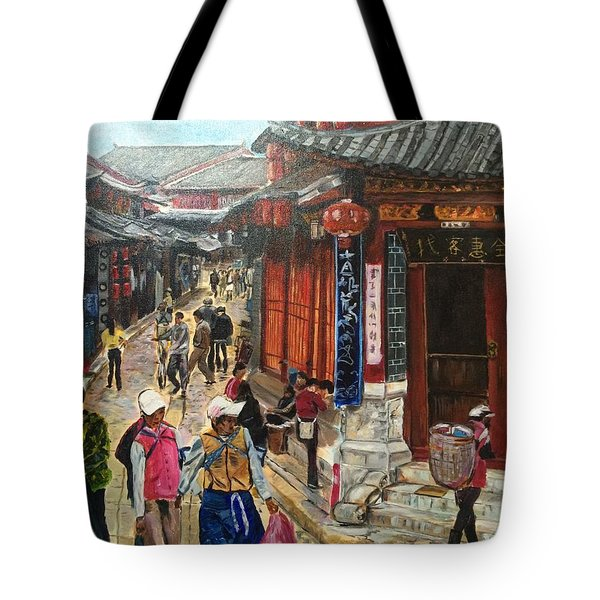 Tote Bag featuring the painting Yesterday Once More by Belinda Low