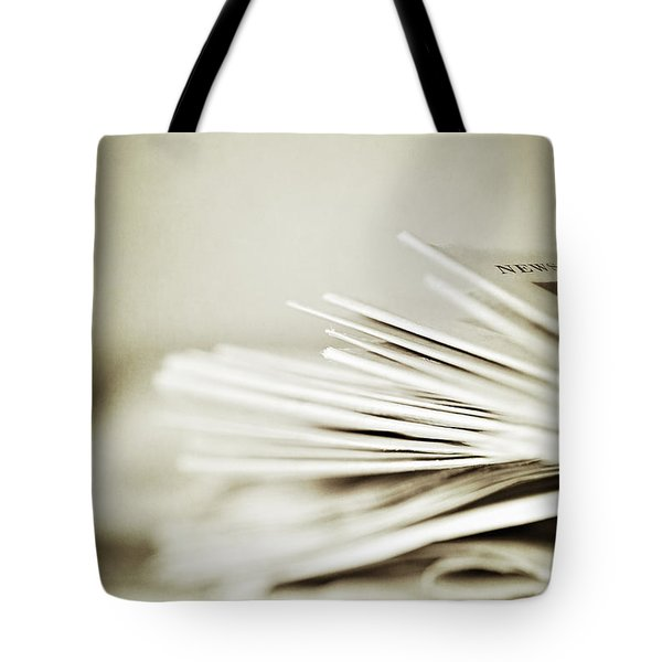 Tote Bag featuring the photograph Yesterday's News by Trish Mistric