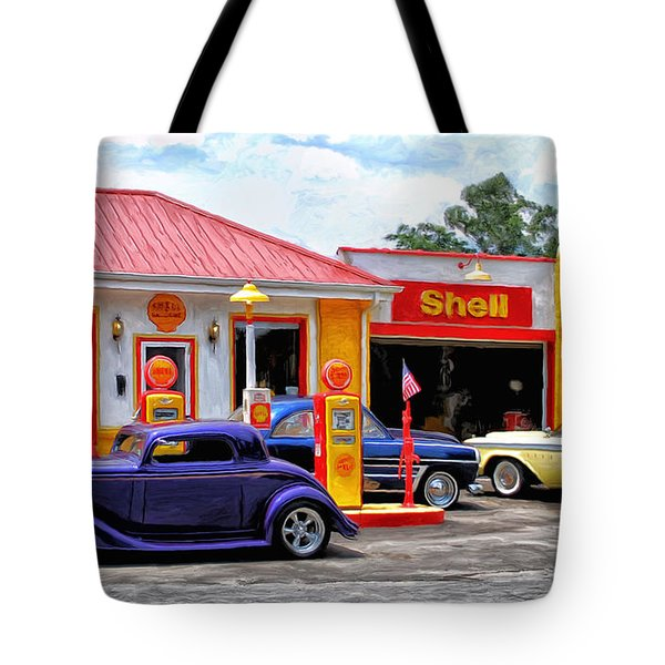 Yesterday's Shell Station Tote Bag