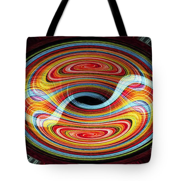 Yin And Yang - Abstract Tote Bag