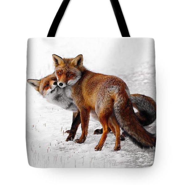 Yin Yang _ Red Fox Love Tote Bag