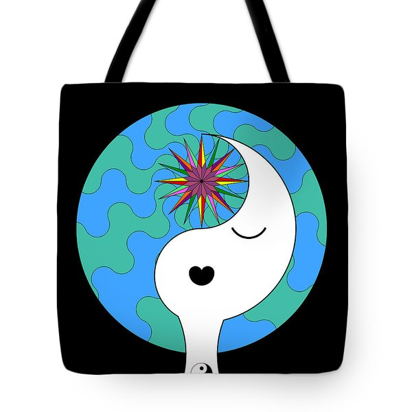 Yin Yang Crown 4 Tote Bag