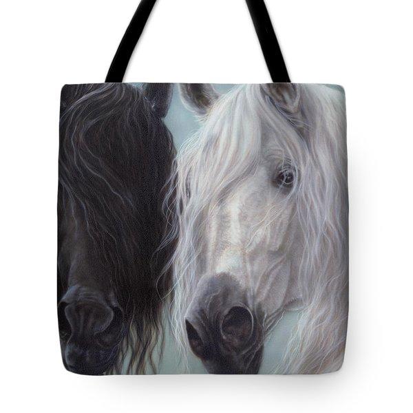 Yin-yang Horses  Tote Bag