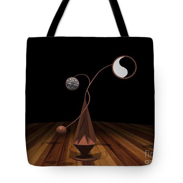 Ying And Yang Tote Bag by Peter Piatt