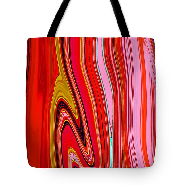 Tote Bag featuring the painting Yipes Stripes  C2014 by Paul Ashby