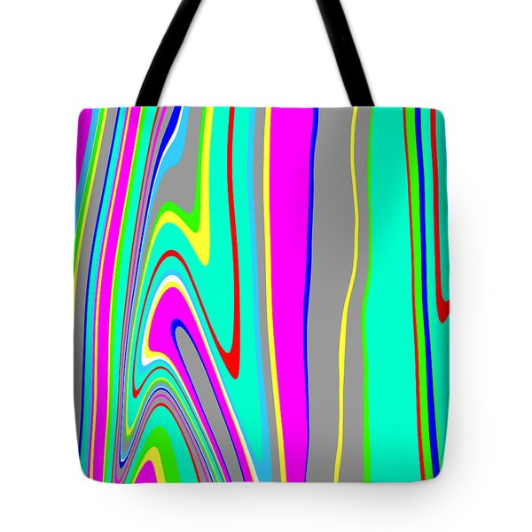 Tote Bag featuring the painting Yipes Stripes II  C2014 by Paul Ashby