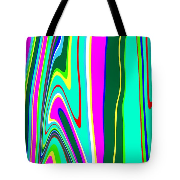 Tote Bag featuring the painting Yipes Stripes II Variation  C2014 by Paul Ashby