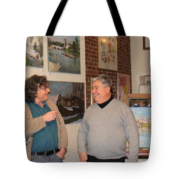 Ylli's Art Show In Brian Gallery Tote Bag by Ylli Haruni