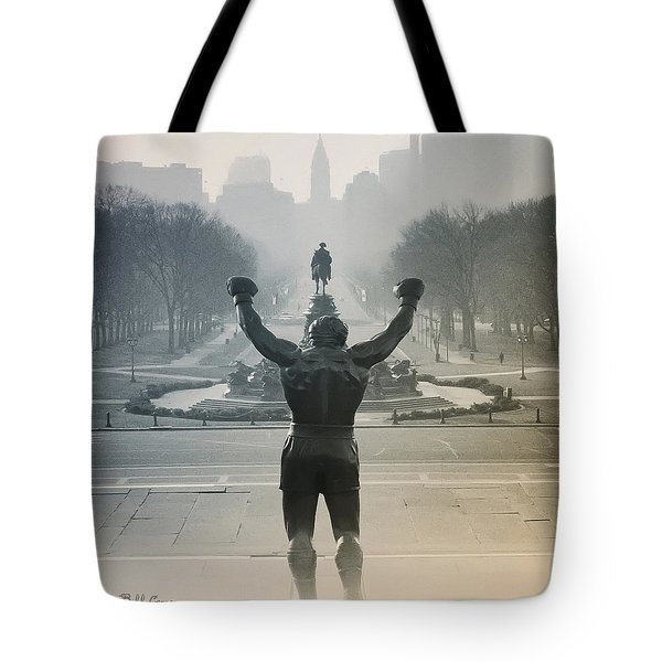 Tote Bag featuring the photograph Yo Adrian by Bill Cannon