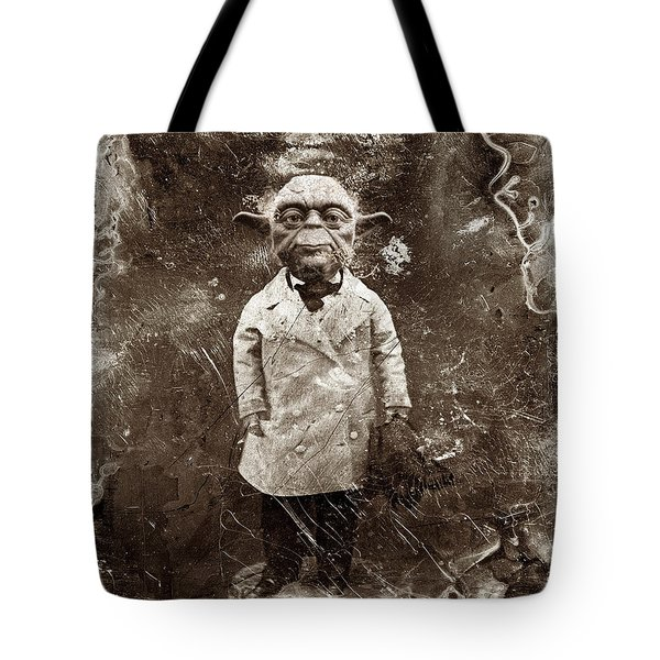 Yoda Star Wars Antique Photo Tote Bag