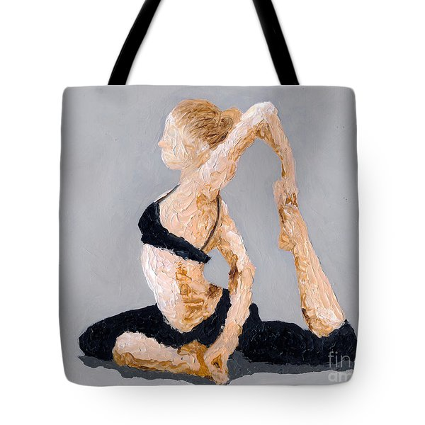 Yoga Sitting Pose Tote Bag