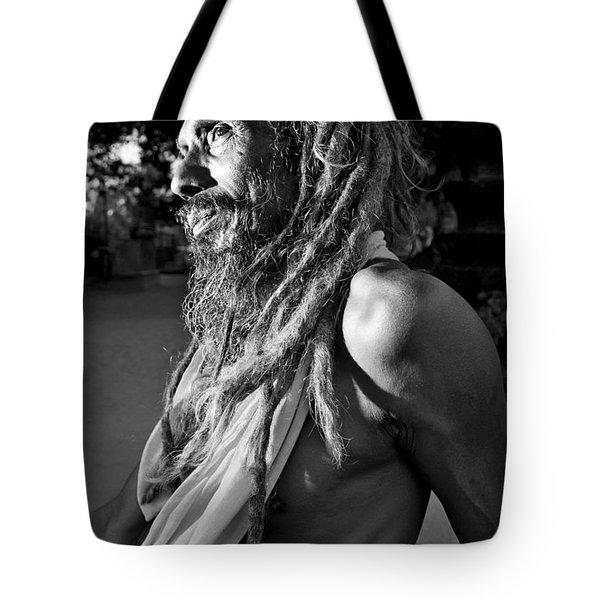 Yogi At Oachira Tote Bag