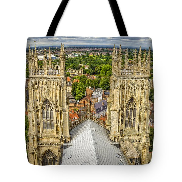 York From York Minster Tower Tote Bag