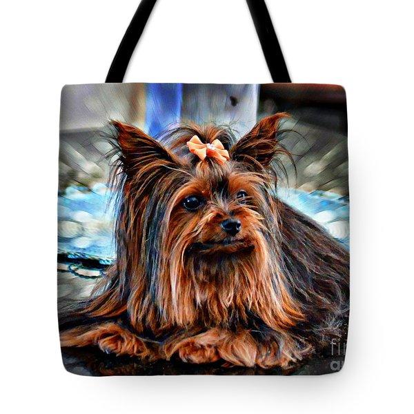 Yorkie Girl  Tote Bag