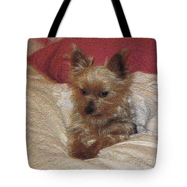 Yorkiehood Tote Bag by Betty LaRue