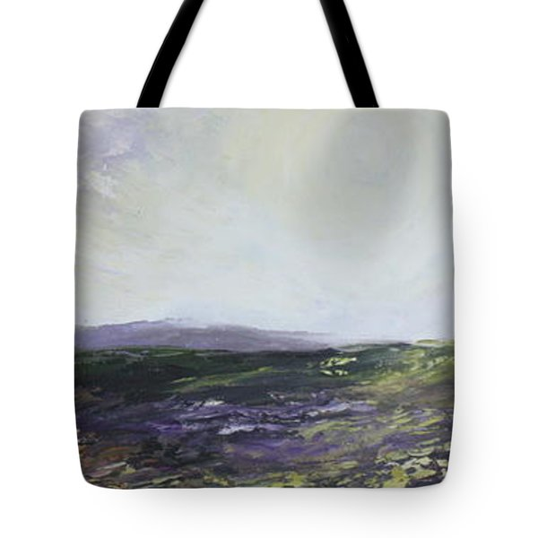 Tote Bag featuring the painting Yorkshire Moors by Jean Walker