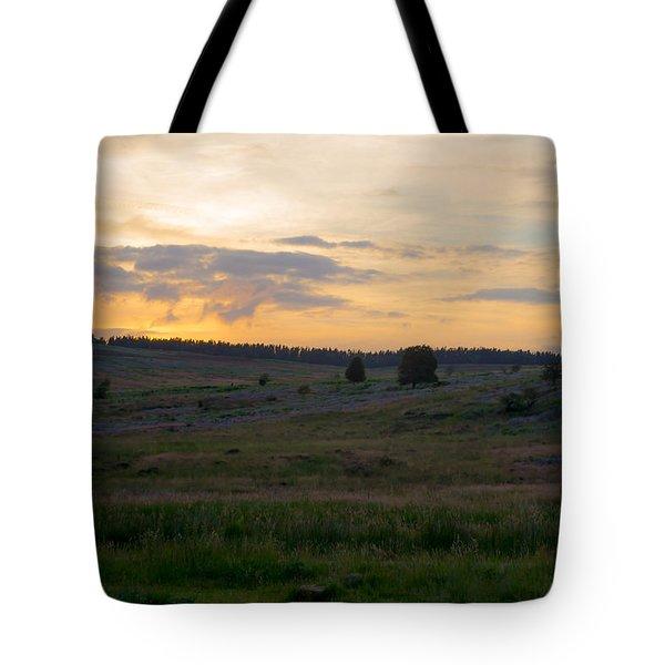Yorkshire - Sheepwash Osmotherley Tote Bag by Scott Lyons