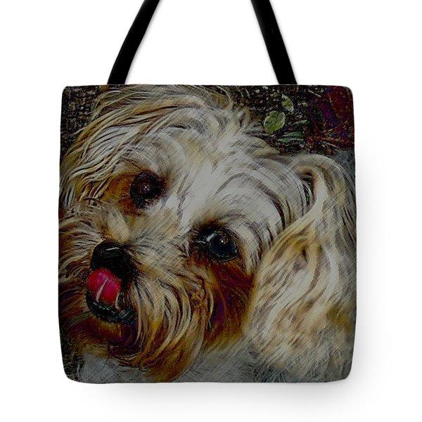 Yorkshire Terrier Artwork Tote Bag by Lesa Fine
