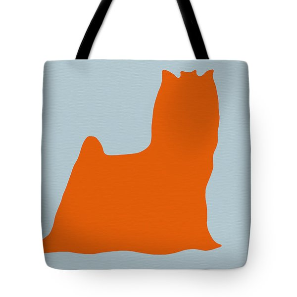 Yorkshire Terrier Orange Tote Bag by Naxart Studio