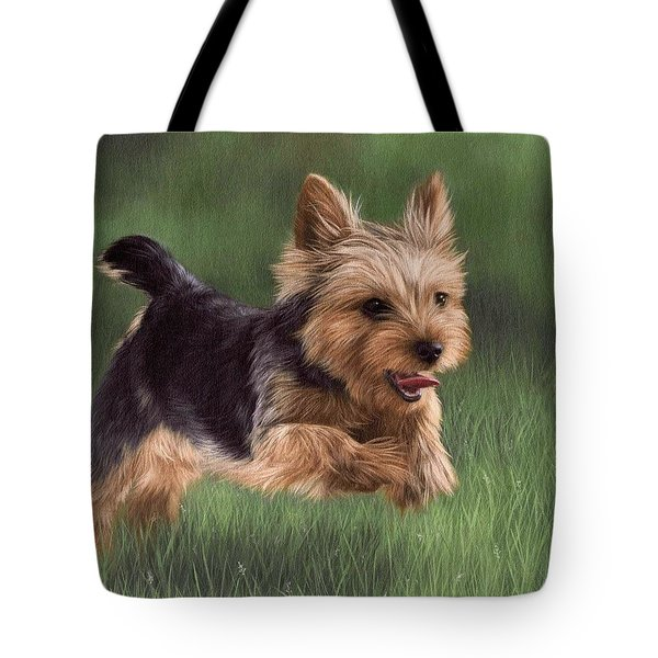 Yorkshire Terrier Painting Tote Bag