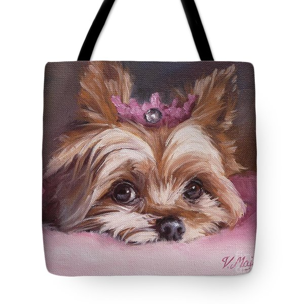 Yorkshire Terrier Princess In Pink Tote Bag