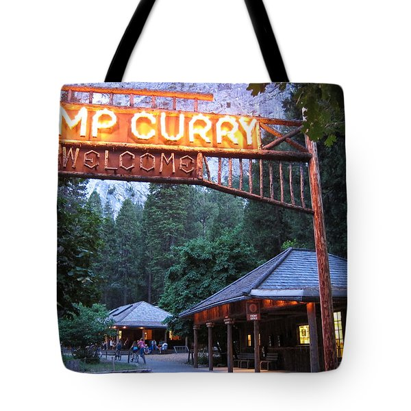 Yosemite Curry Village Tote Bag