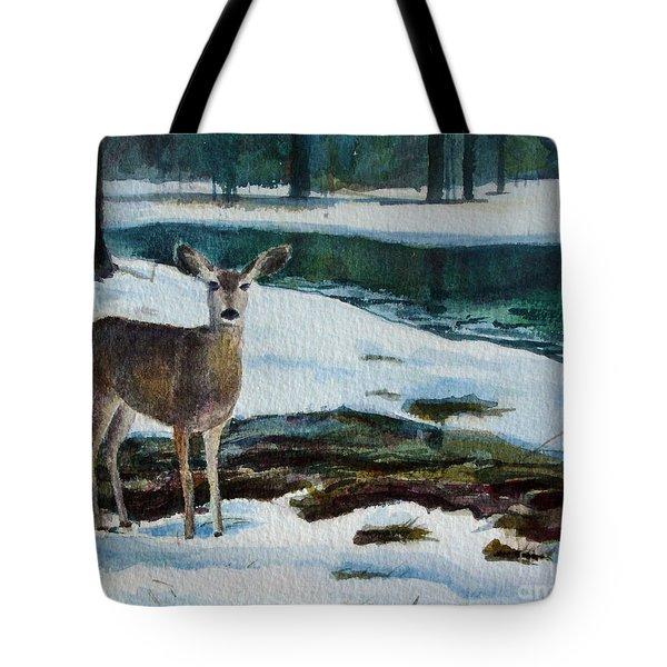 Yosemite Deer Tote Bag