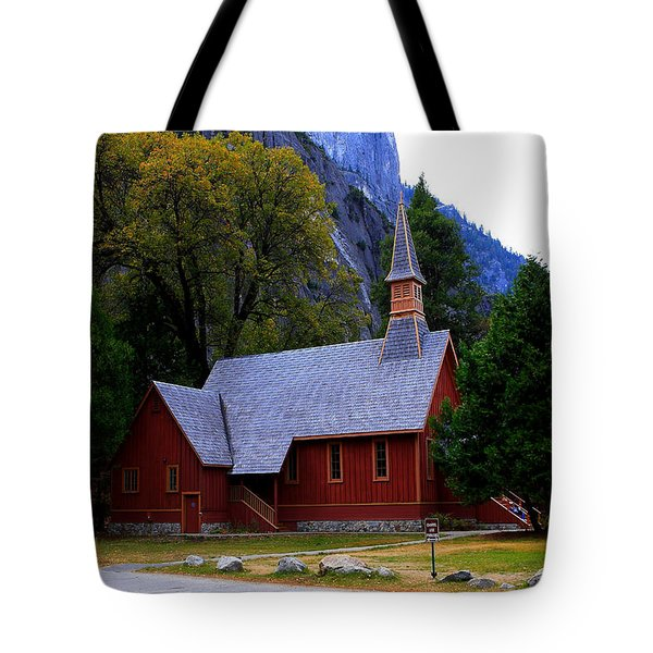 Yosemite Fall  Chapel  Tote Bag