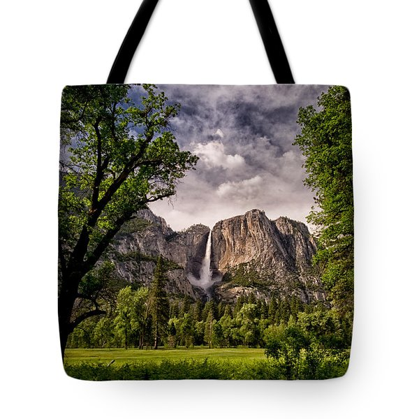 Yosemite Falls Tote Bag by Cat Connor