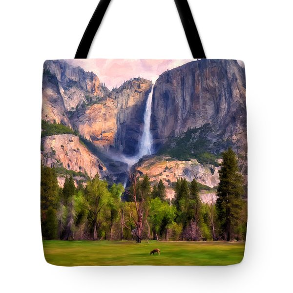 Yosemite Falls Tote Bag by Michael Pickett