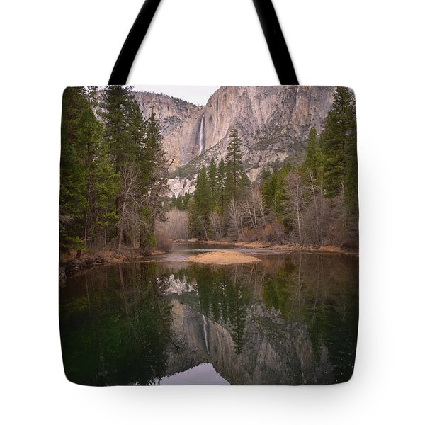 Yosemite Falls Reflection Tote Bag