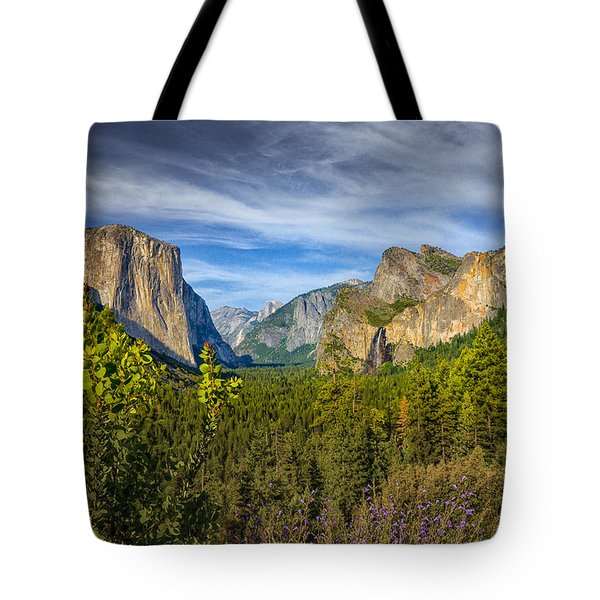 Tote Bag featuring the photograph Yosemite From Tunnelview  by Janis Knight