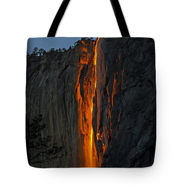 Yosemite Horsetail Falls Tote Bag