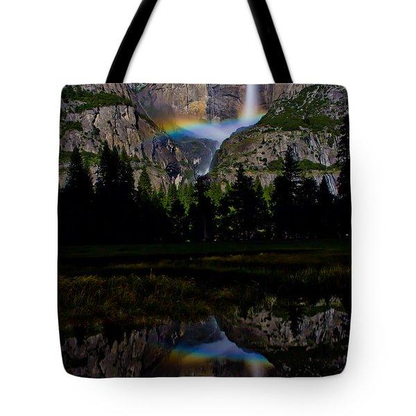 Yosemite Moonbow Tote Bag