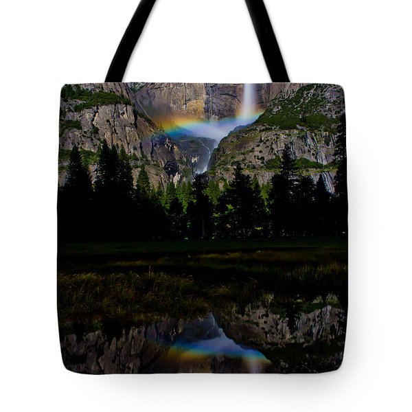Yosemite Moonbow Tote Bag