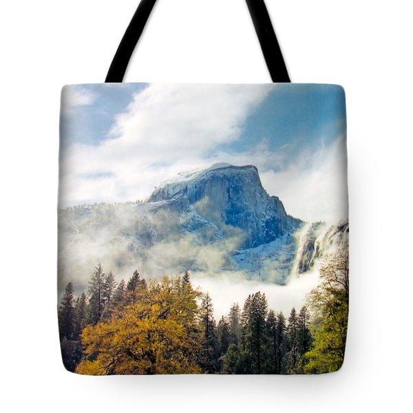 Yosemite Valley  Light Snow Tote Bag