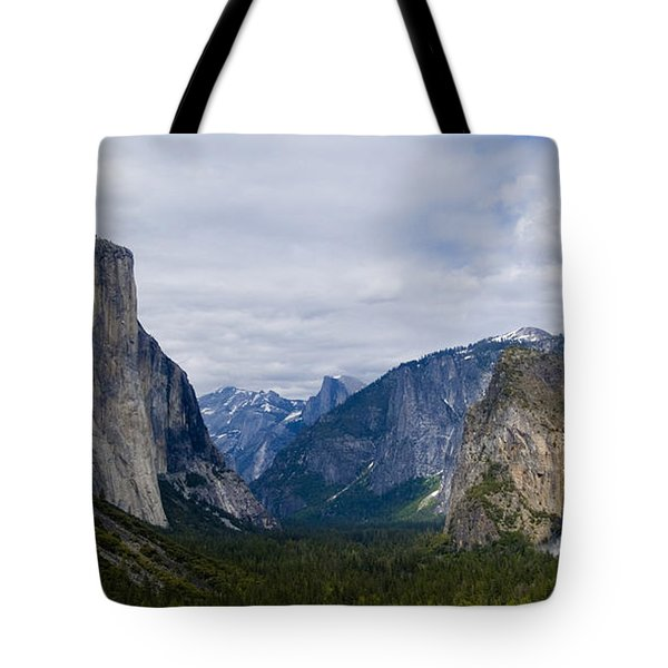 Yosemite Valley Panoramic Tote Bag by Bill Gallagher